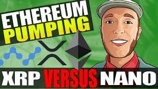 Ethereum Pumping Hard, XRP Takes Fire From Nano, Can BTC Push Past $4200?