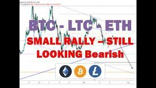 Bitcoin Litecoin Ethereum - Right on Target - Technical Analysis 8/19/19