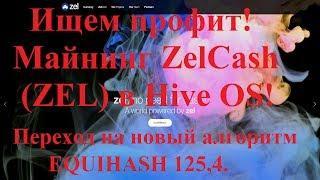 Ищем профит! Майнинг ZelCash (ZEL) в Hive OS! Переход на новый алгоритм EQUIHASH 125,4.