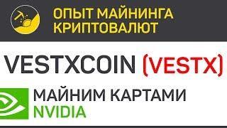 VestXcoin (VestX) майним картами Nvidia (algo X16RT) | Выпуск 210 | Опыт майнинга криптовалют