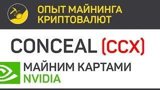 Conceal (CCX) майним картами Nvidia (Fork algo CN Conceal) | Выпуск 186 | Опыт майнинга криптовалют