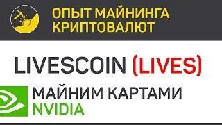 LIVEsCOIN (LIVES) майним картами Nvidia (algo Xevan) | Выпуск 100 | Опыт майнинга криптовалют