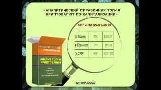 Обзор цен ТОП 10 криптовалют на 06 января 2019