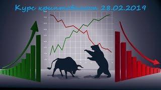 Курс криптовалют BTC, ETH, XRP, TRX, BNB 28.02.2019