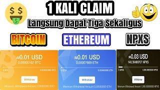 APLIKASI PENGHASIL BITCOIN ETHEREUM GRATIS !! Cara cepat mendapatkan uang gratis