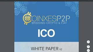 Coinxes ICO. A new P2P exchange (ENG)