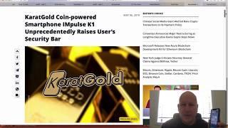 CoinTelegraph K1 Impulse Phone Review #KARATGOLD
