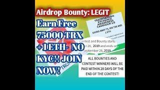 Earn Free TradeSatoshi & Ethereum|Airdrop Bounty|TRX Airdrop ETH