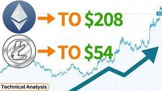 Ethereum ETH to $208 & Litecoin LTC to $54 THIS WEEK? Plus Tron TRX Analysis