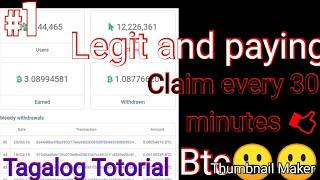 Bitcoin Claim every 30 minutes 100&100 persent legit tagalog tutorial