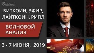 Криптовалюта: волновой анализ bitcoin, ethereum на неделю 3 - 7 июня, 2019. Спикер Роман Онегин