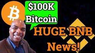 DavinciJ15 Calls For A $100,000 Bitcoin?! Huge BNB News! (Bitmex Trading + Cryptocurrency Analysis)