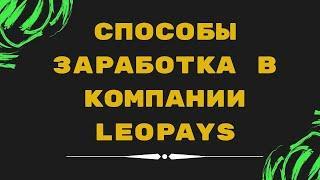 Способы заработка в компании LeoPays