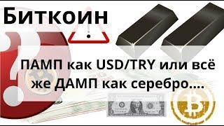 Биткоин ПАМП как USD/TRY или всё же ДАМП как серебро ..