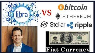 Facebook Libra Global coin cryptocurrency vs fiat money, Bitcoin, Ethereum, Stellar, Ripple and more