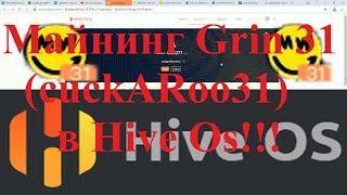 Майнинг  Grin 31(cuckARoo31)  в Hive OS!!! В 2 раза профитней Grin 29!!!