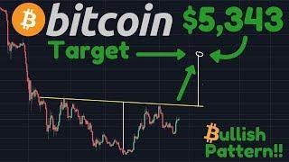 Bitcoin To $5,343!! | BULLISH Reversal Pattern Forming | Inverse Head & Shoulders