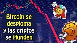 bitcoin se desploma y las criptomonedas se hunden ¿que esta pasando?