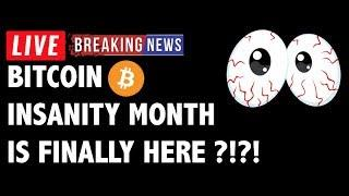 INSANITY Month for Bitcoin (BTC) is Here?! - Crypto Market Technical Analysis & Cryptocurrency News