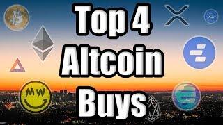 TOP 4 ALTCOINS TO BUY NOW!! Best Cryptocurrencies to Invest in Q3 2019! [Bitcoin News]