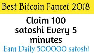 Best Bitcoin Faucet | Earn 100 Satoshi Every 5 Minutes