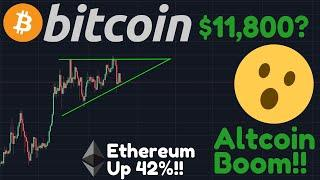 WOW, BTC SHORTS JUST CRASHED 40%!!! | Breakout To $11,800?! | Ethereum Up 42%!! Altcoin Boom!
