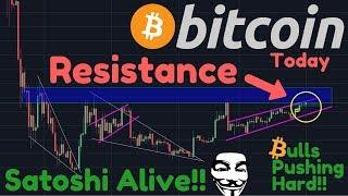 BULLS PUSHING Into Resistance!! | BREAKING: Satoshi Moved Bitcoin From Original Address Today???