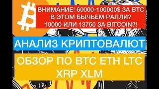 Прогноз по Биткоин, BTC, ETH, LTC, XRP, XLM на 25 Июня! Момент истины вверх или вниз?!