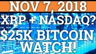 RIPPLE XRP + NASDAQ? $25,000 BITCOIN BTC WATCH! XLM AIRDROP! (CRYPTOCURRENCY PRICE + NEWS 2018)