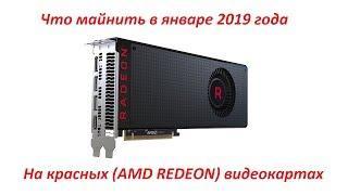 Что майнить на красных (AMD REDEON) январь 2019