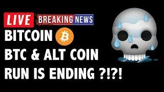 Is The Bitcoin (BTC) & Altcoin Run Ending?! - Crypto Market Technical Analysis & Cryptocurrency News