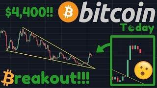 BITCOIN BREAKING OUT!!! | Wedge Target Is $4,400! | Institutional Investors Buying BTC!