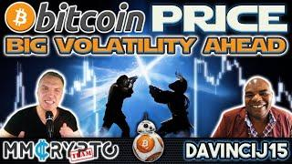 DavinciJ15: Bitcoin Price BIG Volatility AHEAD!