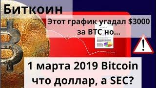 Биткоин. Этот график угадал $3000 за BTC но... 1 марта 2019 bitcoin что доллар,а SEC?