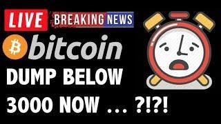 Bitcoin PRICE HEADED BELOW 3000 NOW?! - LIVE Crypto Trading Analysis & BTC Cryptocurrency News 2019