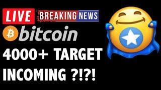 Bitcoin 4000+ TARGET INCOMING?! -LIVE Crypto Market Trading Analysis & BTC Cryptocurrency Price News