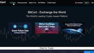 Telegram Token Sale IEO ICO Gram TON on cryptocurrency exchange BitCort