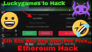 Ethereum Hack Luckygames Dont Do This At Home Seed Hack Eth Etc Ltc Btc Xrp Xmr Pot Dgb Btg