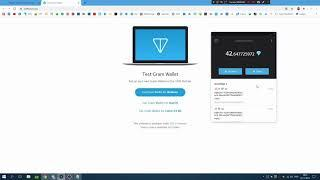 ТЕСТИРУЮ КОШЕЛЕК GRAM (Telegram Open Network) от П. Дурова (testnet)