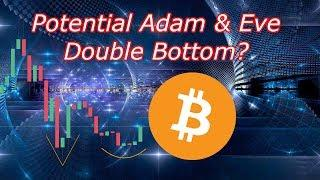 Bitcoin Live : Potential Adam & Eve Double Bottom for BTC? Episode 618 - Crypto Technical Analysis