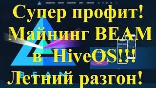 Супер профит!  Майнинг BEAM в HiveOS в июне 2019!!! Летний разгон для холодного майнинга!