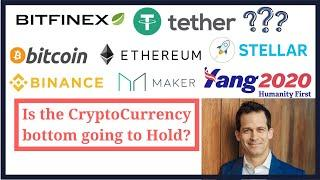 Bitfinex, Tether; cryptocurrency fundamentals and prices for Bitcoin, Ethereum, Stellar, MakerDao,