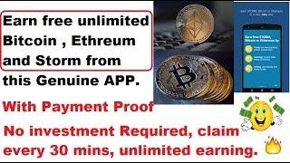 Earn free Bitcoin and Ethereum with payment proof | No need of any investment