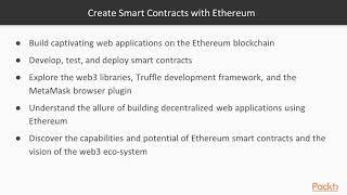 Creating Smart Contracts with Ethereum: The Course Overview | packtpub.com