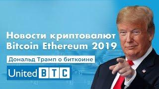 Новости криптовалют Bitcoin Ethereum 2019 Дональд Трамп о Биткоине United Btc Bank