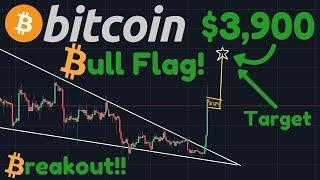 Bitcoin $3,900 Target For BULL FLAG! The Move Is NOT Over!