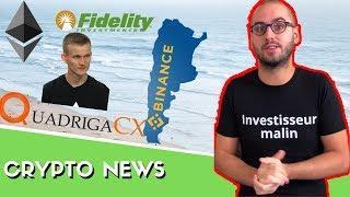 Exchange Binance fiat | QuadrigaCX | Ethereum | Vitalik Buterin | Bitbond | Fidelity