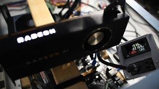 5700 XT 61 Mh/s Ethereum Hashrate @ 105 Watts...