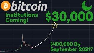 Bitcoin To $30,000 When Institutions Join 2019 | Will BTC Reach $400,000 By September 2021?