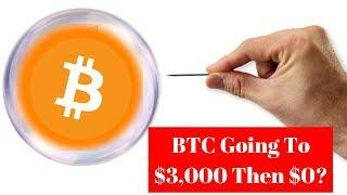 """Bitcoin At $3,000 Is A Shakeout Before We Get To $0"", Bloodbath Continues, When BTC $100,000?"